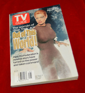 TV Guide Nov  8-14 1997 Star Trek Voyager with Jeri Ryan as 7 of 9 on cover