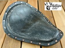 Rich Phillips Black Distressed Motorcycle Seat Harley Chopper Bobber Sportster