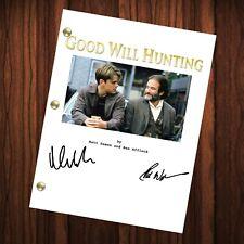 Good Will Hunting Autographed Signed Movie Script Reprint Matt Robin Williams
