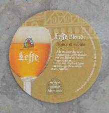 Sous-bock de bière Leffe blonde, bon état