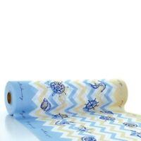 Tischläufer Maritim in blau aus Linclass® Airlaid 40 cm x 24 m - Muscheln