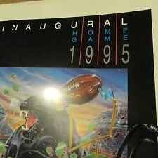 CAROLINA PANTHERS INAUGURAL Black Home Game POSTER made 1995 #KEEPPOUNDING