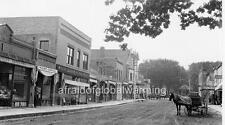 Photo. ca 1909. Woodstock, Illinois. Main Street - Horse & Wagon