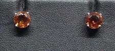 9 Carat White Gold Round Madeira Citrine Earrings - BNIB Seller Ref 180