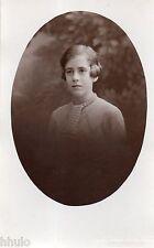 BM122 Carte Photo vintage card RPPC Femme jeune fille coiffure hair cheveux