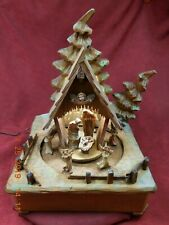 Rare Lighted Anri Musical Silent Night Nativity Thorens 28 Note Great Condition