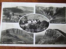 Rowland Cote Youth Hostels,  Peveril castle, Edale, Winnants,  face of Mam, RPPC
