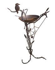 Birdbath with Kookaburra and Spiderweb - Handmade in Australia