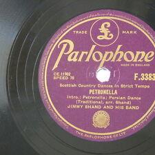 78rpm JIMMY SHAND petronella / highland schottische