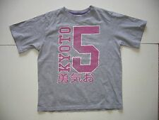 BOYS T-SHIRT FUN TOP GREY AGE 8-9 YEARS M&Co. JAPANESE THEME