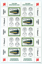 Austria 2003 Stamp daytrains sheet of 5 stamps and 5 labels unmounted mint