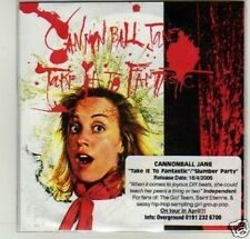 (D450) Cannonball Jane, Take it to Fantastic - DJ CD