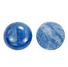14mm Natural kyanite round cab cabochon 5pcs