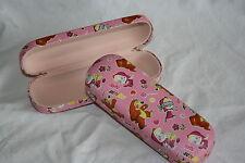"""Schönes Brillenetui für Kinder """"Martha and the bear"""" in rosa"""