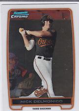 Nick Delmonico Baltimore Orioles 2012 Bowman Prospects Chrome Card