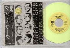 "7"" KRAFTWERK POCKET CALCULATOR / DENTAKU USA 1981 YELLOW VINYL IN PLASTIC BAG"