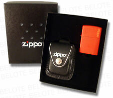 Zippo Lighter Gift Set Black Leather Pouch LPGS-LPLBK