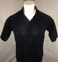 5.11 Tactical Series Mens Medium Performance Short Sleeve Polo Shirt Solid Black