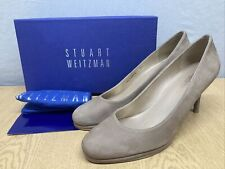 Stuart Weitzman Russell & Bromley Light Brown Nubuck Leather Court Shoes Uk 9.5