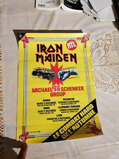 Iron Maiden Tourbook and Vintage Poster