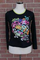 """Piper Youth Long Sleeve T-shirt """"FOLLOW YOUR HEART"""" Black/Multicolor XL (14/16)"""