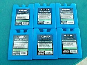 """Ice Gel Block Packs Non-Toxic 4"""" X 5""""  6 (Six) Pack Re-Freezable By IGLOO CO."""