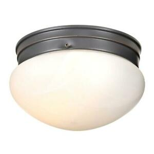 Millbridge 2-Light Oil Rubbed Bronze Ceiling Semi Flush Mount Light Fixture
