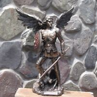 Archangel Michael Stepping on Demon ~ Veronese Collection, 23cm Bronzed Statue