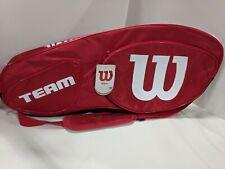 Wilson - WRZ857806 - Team III - 6 Rackets Size Tennis Bag - Red