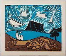 Pablo PICASSO : Bacchanale II #  LINOGRAVURE # 1962 # CERCLE D'ART