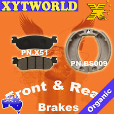 Front Rear Brake Pads Shoes Yamaha T105 T 105 E Crypton