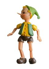 """1950 Vintage PINOCCHIO Celluloid Jointed Toy Doll Figurine Russian Buratino 8,5"""""""