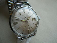 STUNNING BULOVA,1967, ALL SS CASE,17 JEWELS MANUAL WITH DATE, SERVICED!