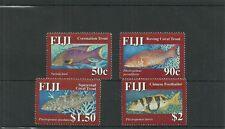 Fiji sg1376-1379 CORALLO trota SET MNH