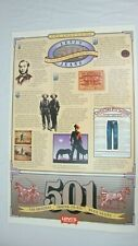 Vtg Levi Strauss Denim 501 Jeans Ad POSTER 29 x 19 Legend Levi's 1983 USA
