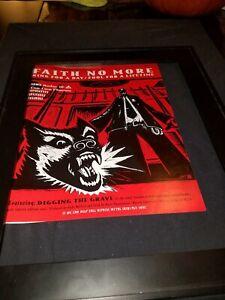 Faith No More Digging The Grave Rare Original Radio Promo Poster Ad Framed! #2