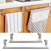 Kitchen Under Cabinet Towel Paper Hanger Rack Organizer Storage Shelf Holder