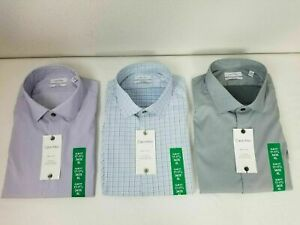 SALE! Calvin Klein Men's Long Sleeve Slim Fit Fresh Comfort Shirt -VARIETY-  A32