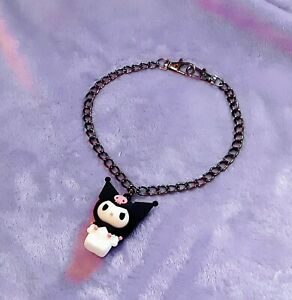Kuromi Metal Chain Choker Necklace New Handmade Goth Grunge Alt Punk
