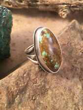 Vintage Navajo Royston Turquoise & Sterling Silver Ring Sz 9