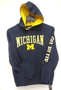 Michigan Wolverines Youth M 12-14 Colosseum Pullover Hoodie