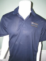 Thin Blue Line Polo Shirt  Wicking technology NWT Golf Shirt