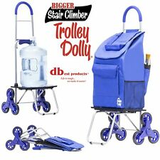 dbest products Stair Climber Bigger Trolley Dolly, Blue Shopping Grocery Fold.