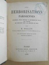 Les herborisations parisiennes, H. Billon 1890, Flore, Botanique