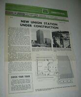 Vintage 1969 Burlington Commuter Newsletter Chicago FREE Ship Bell Systems News