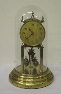 Orologio a torsione  400 giorni in ottone con cupola vetro - parigina - sveglia.