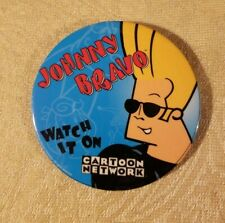 Cartoon network Johnny Bravo Button Pin Warner Bros Studio Store Employee button