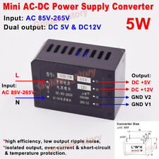 AC-DC Converter AC 110V 220V 230V to DC 5V 12V Dual Output Switching Transformer