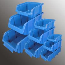 Lagerboxen Stapelboxen Sichtlagerboxen Sichtlagerkasten Schütten Stapelbox blau