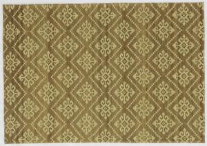 Ashikavin Woolen Carpet (Beige/Brown,4.6 X 6.6 FT)